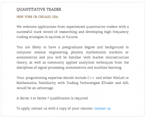 Systematic trading strategies jobs