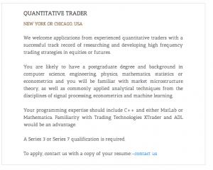 QuantTrader Job
