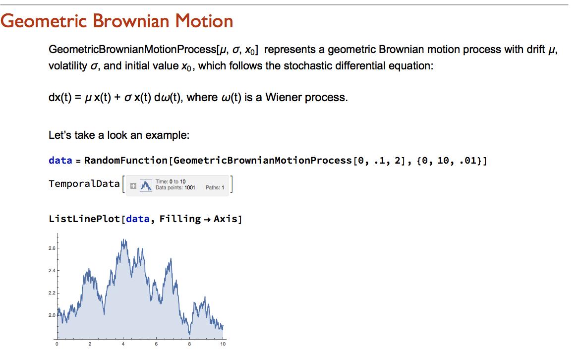 Stochastic Calculus in Mathematica